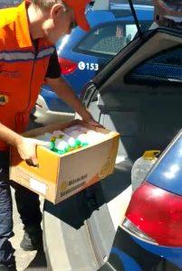 GCM aprende álcool em gel falso em mercado de Bairro Matão, Sumaré(SP)