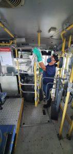 Higienização no transporte coletivo é intensificada em Sumaré