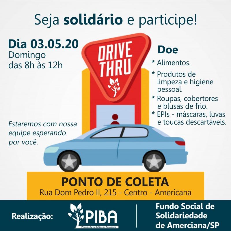 Ação Seja Solidário será realizada no domingo