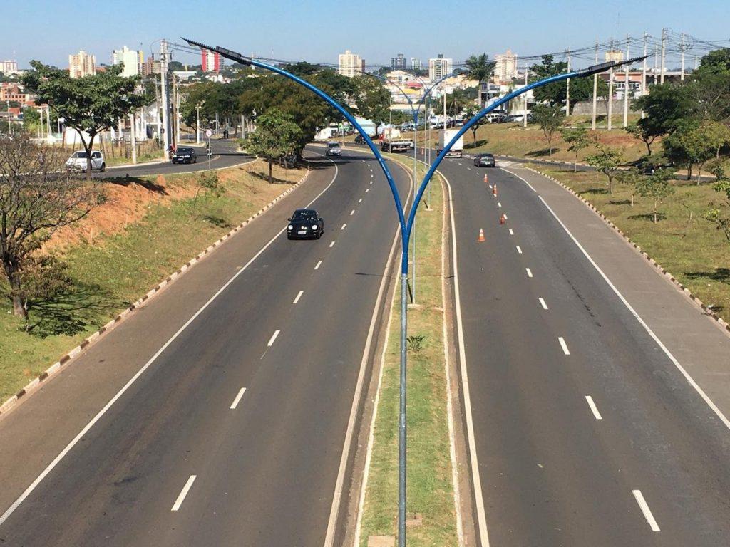 Prefeitura de Sumaré finaliza instalação de luminárias LED na avenida de acesso à Região Central