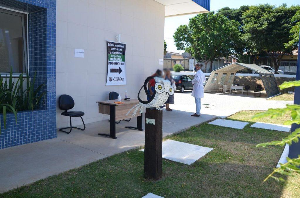 Sumaré conta com tendas do Exército Brasileiro para triagem de pacientes com sintomas de coronavírus