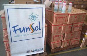 Fundo Social de Sumaré recebe doação de 1 mil litros de álcool 70% da Rumo Logística