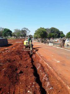 Começam obras de construção de muro no Cemitério Municipal da Saudade