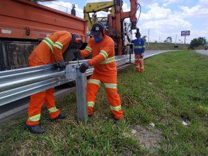 Após intervenção do Deputado Dalben, Rodovia Virgínia Viel Campo Dall'Orto, em Sumaré, recebe barreiras de proteção