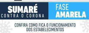 Sumaré segue orientação do Governo do Estado e retorna à fase amarela do Plano São Paulo
