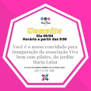 Associação Viva Bem com Pilates inaugura seu terceiro estúdio, no Bairro Maria Luiza