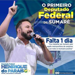 Henrique do Paraíso, vice prefeito de Sumaré, assume como Deputado Federal